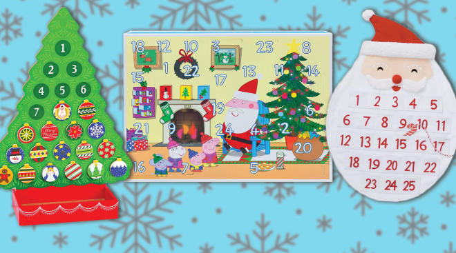 kids holiday advent calendars