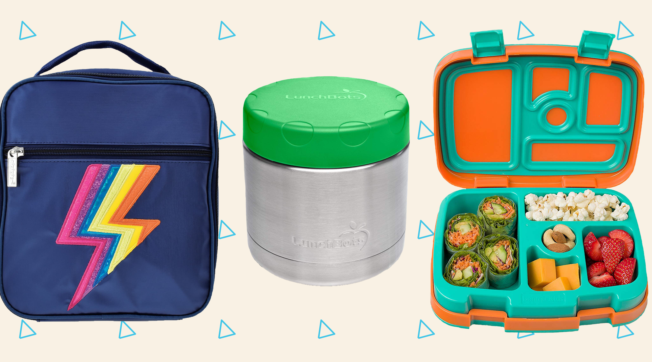 collage of toddler lunchboxes