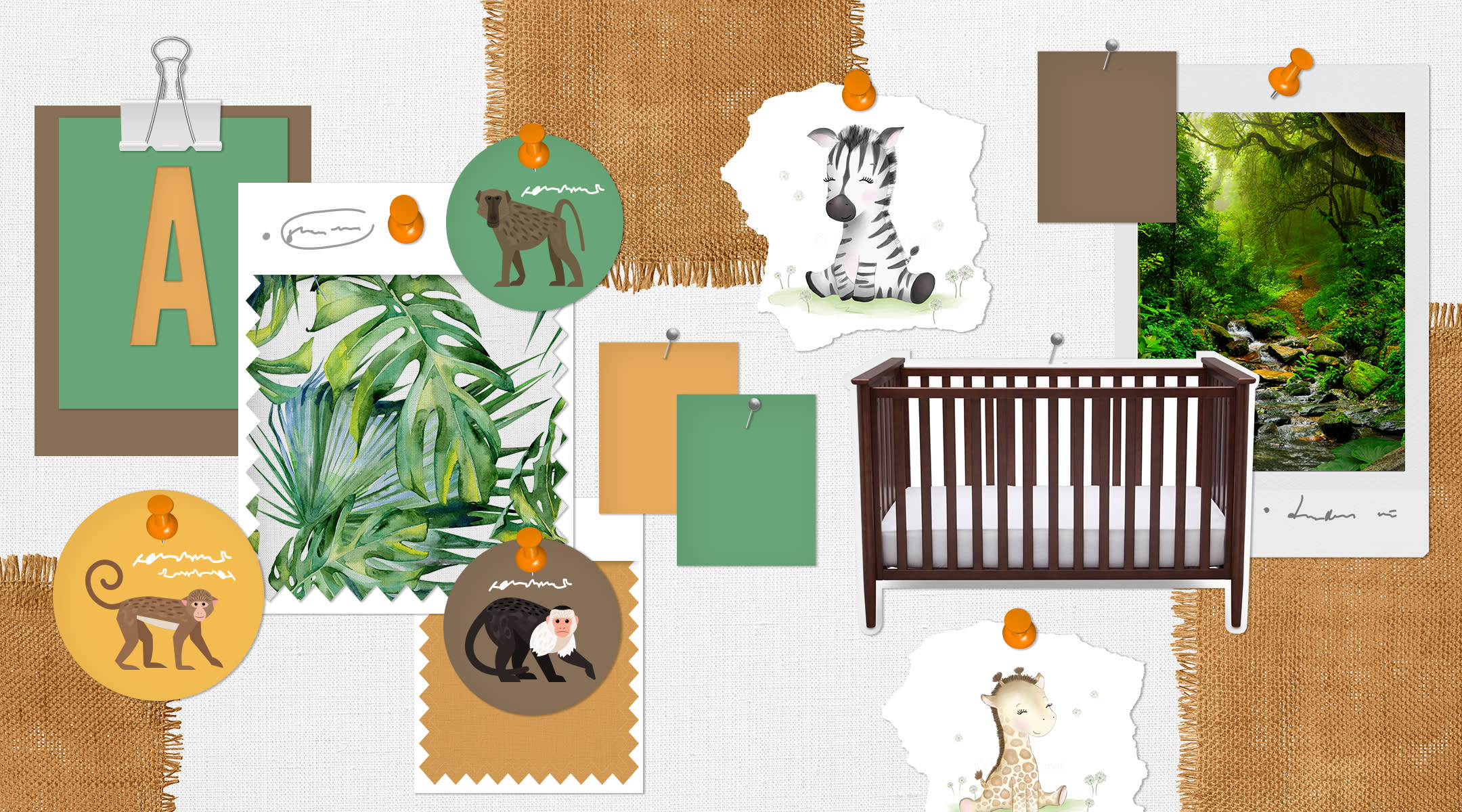 safari nursery inspiration board
