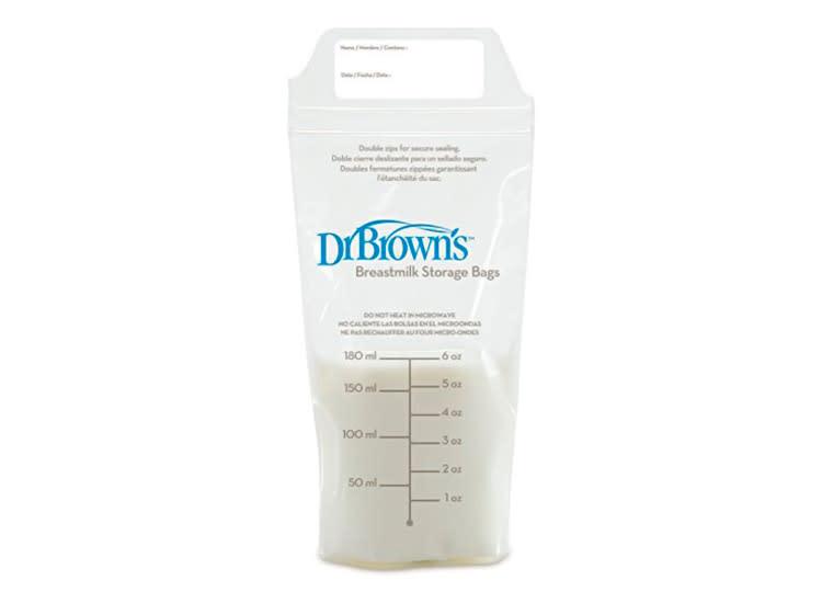 6 Dr Browns T Milk Storage Bags