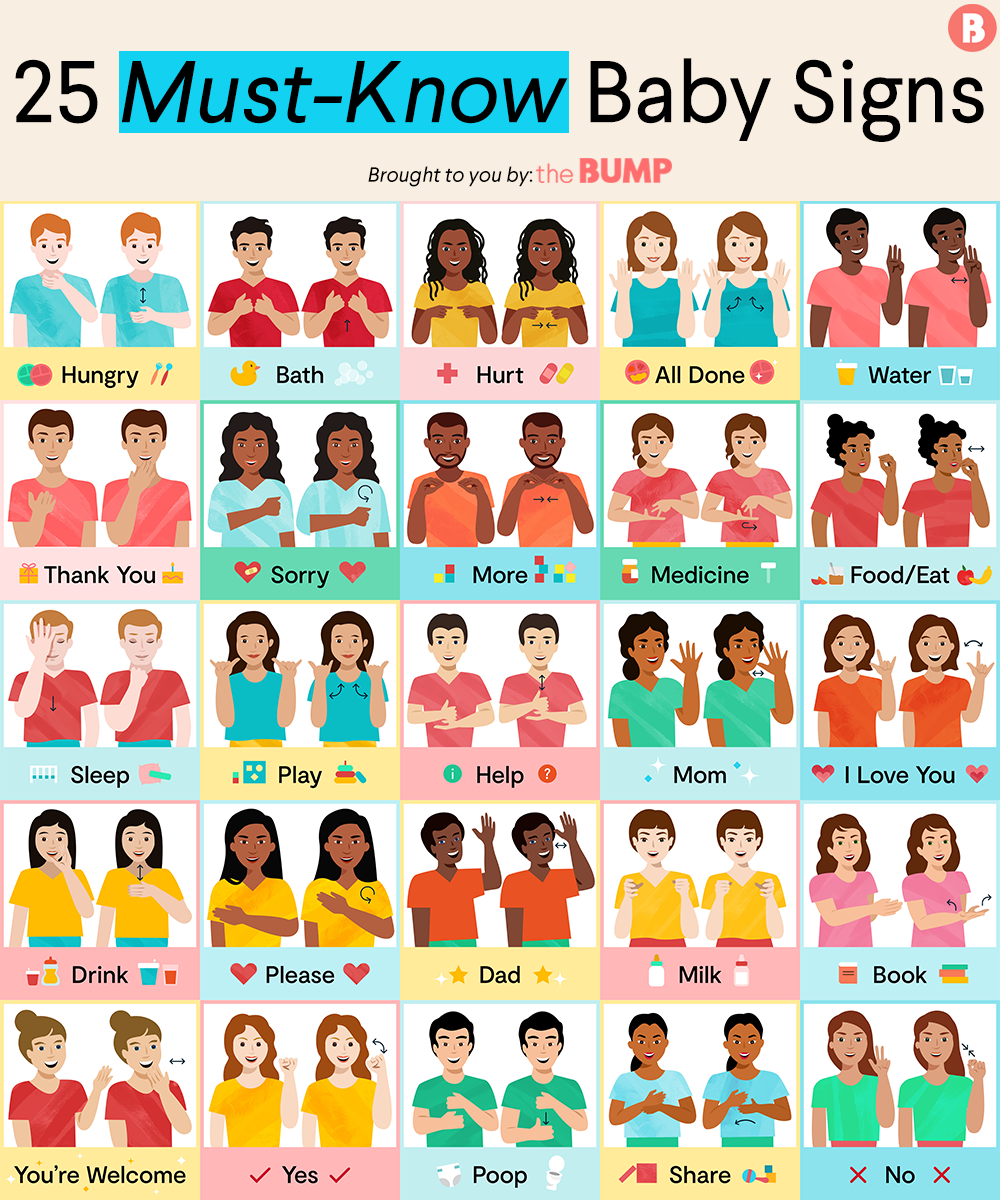 Baby Sign Language Chart Full