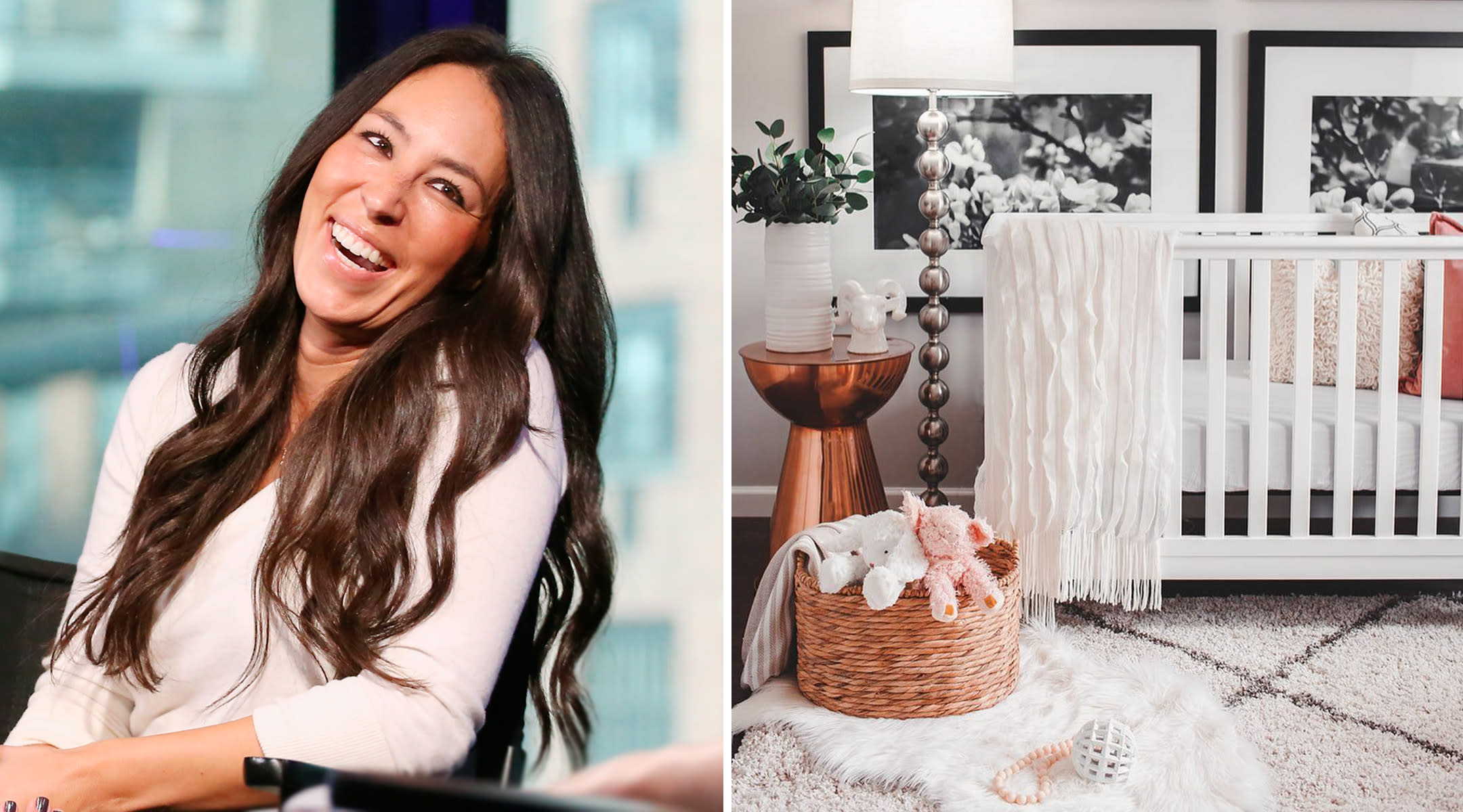these nurseries were inspired by joanna gaines. Black Bedroom Furniture Sets. Home Design Ideas