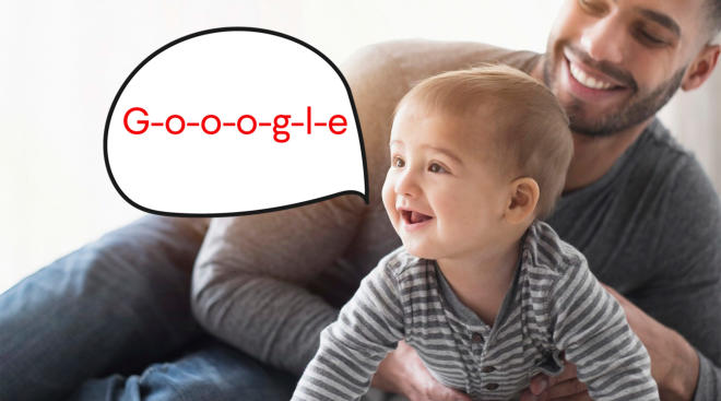 baby's first word is google