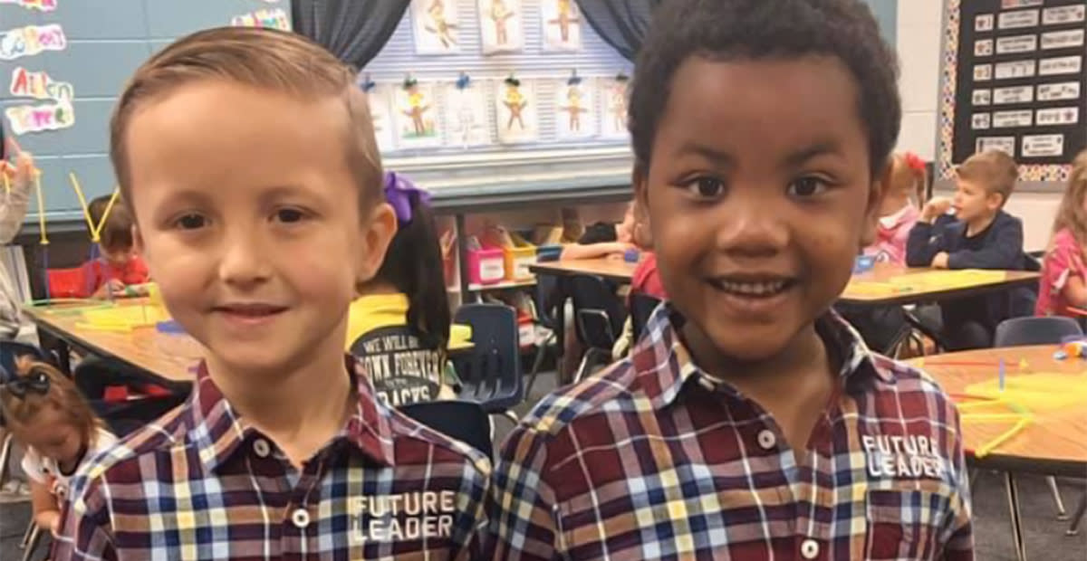 "Photo of ""Twin"" Kindergarteners Is Going Viral for the Sweetest Reason"