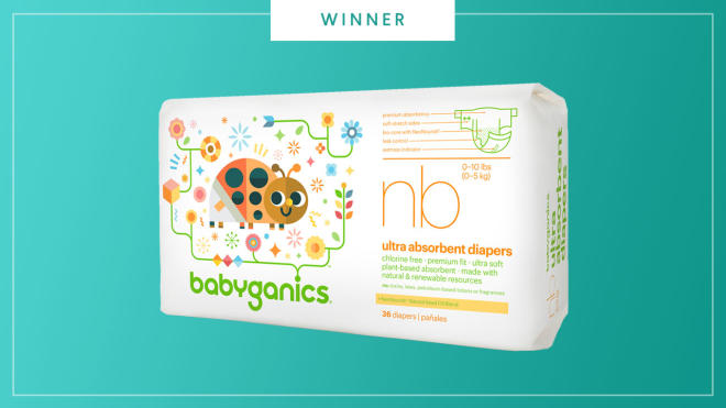 Babyganics Ultra Absorbent Diapers win the 2017 Best of Baby Award from The Bump.