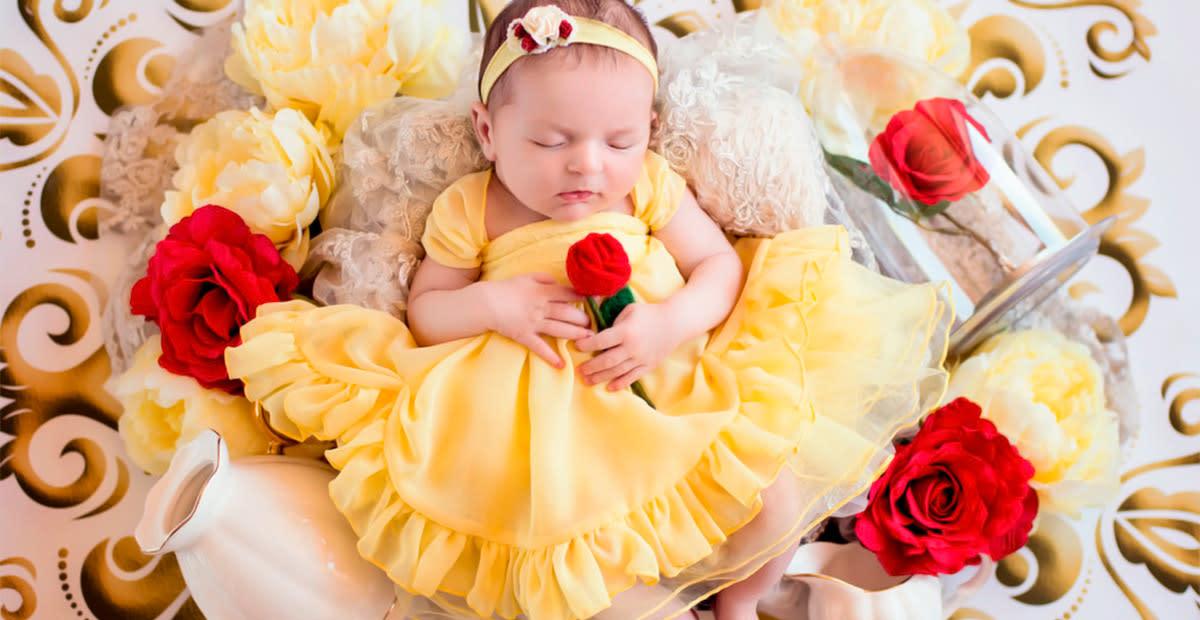 Photographer Transforms Newborns Into Disney Princesses
