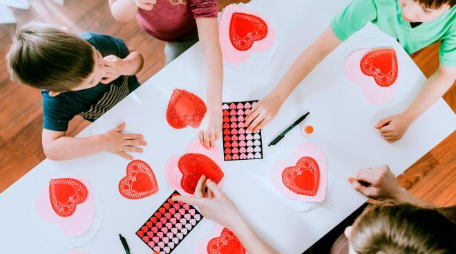 easy valentine's day kids crafts