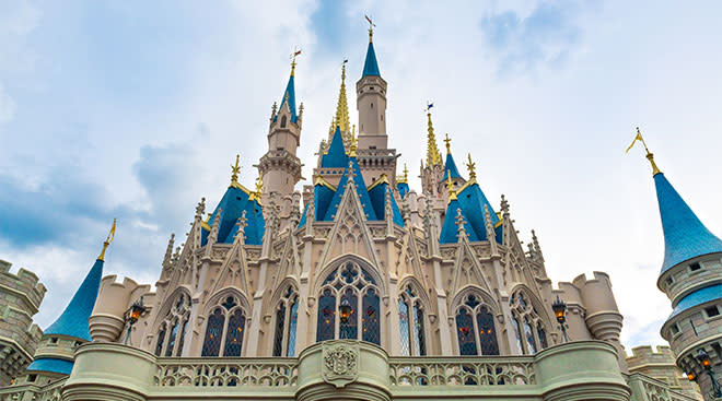 disney world castle, parks getting ready to re-open