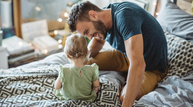 Dads are happier parents than moms, study says.