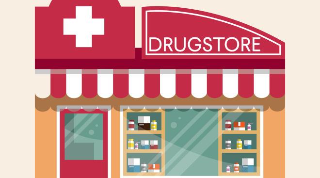illustration drugstore childrens benadryl