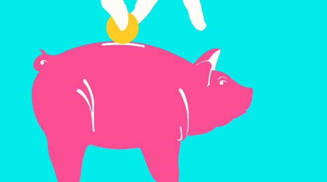 piggy bank illustration saving money
