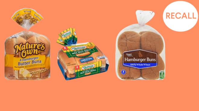 hotdog and burger bun recall