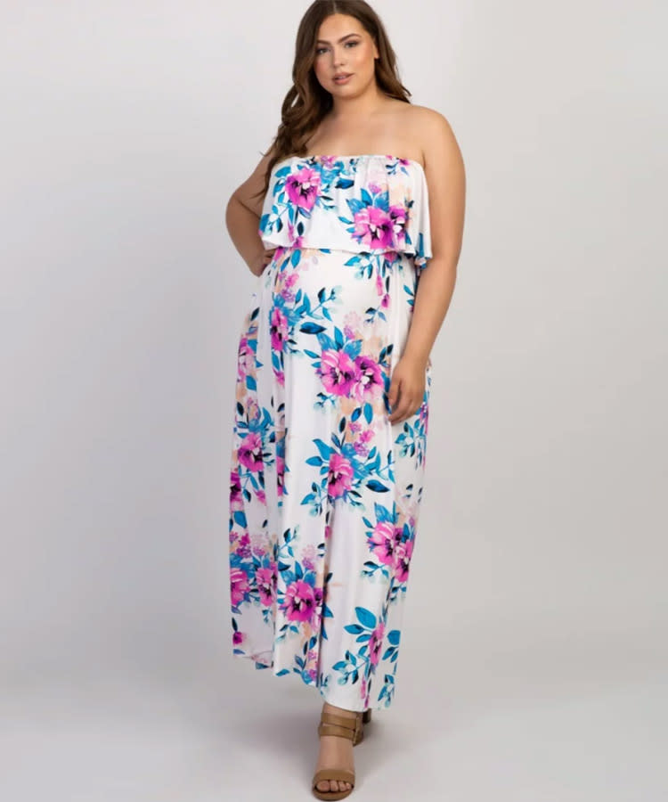 25ae94a93aeff summer-maternity-dress-pink-blush-plus-size-floral-