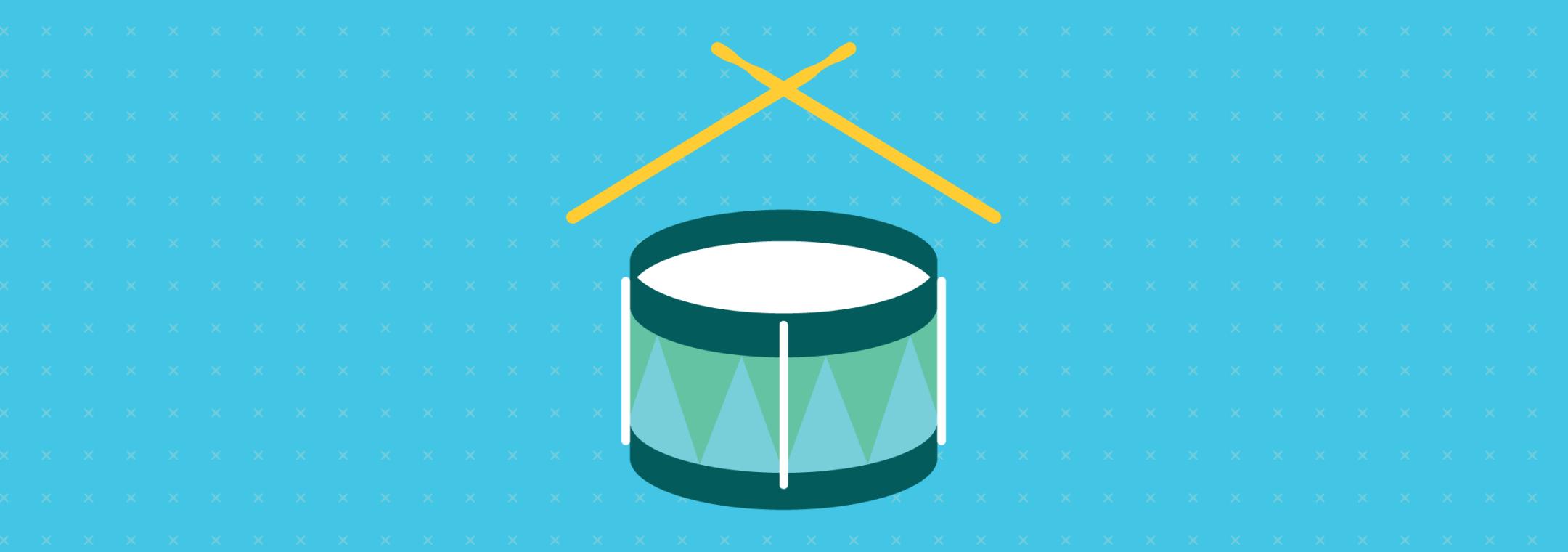 toddler play drum instrument