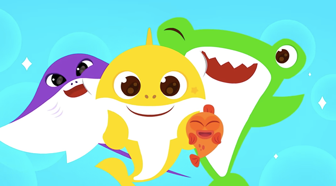 baby shark themed wash your hands video