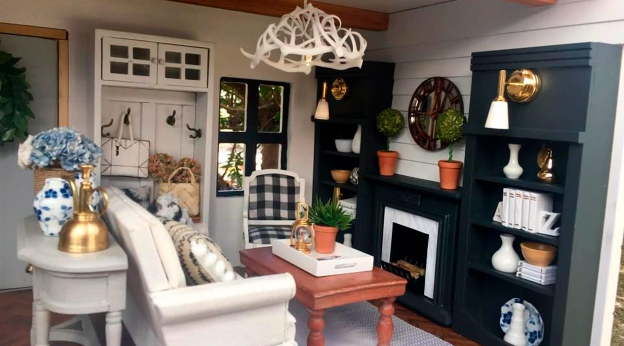 Mom Renovates Dollhouse In Fixer Upper Style