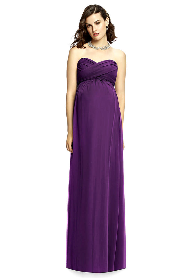 b87341be3c33 Dessy Collection plus size maternity bridesmaid dress