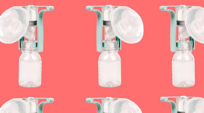 breast milk pump collage