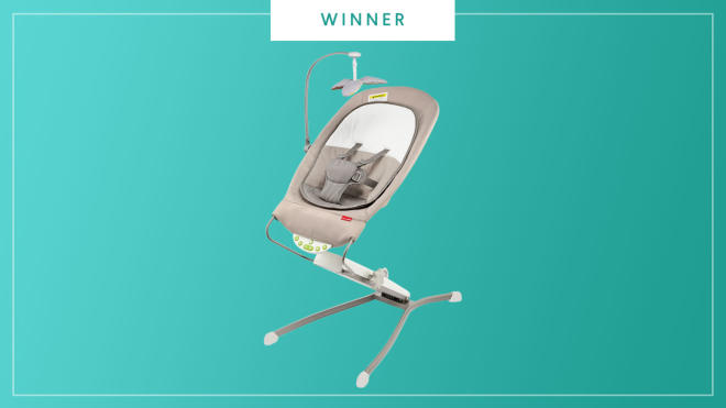 The Skip Hop Uplift Multi-Level Bouncer wins the 2017 Best of Baby award from The Bump