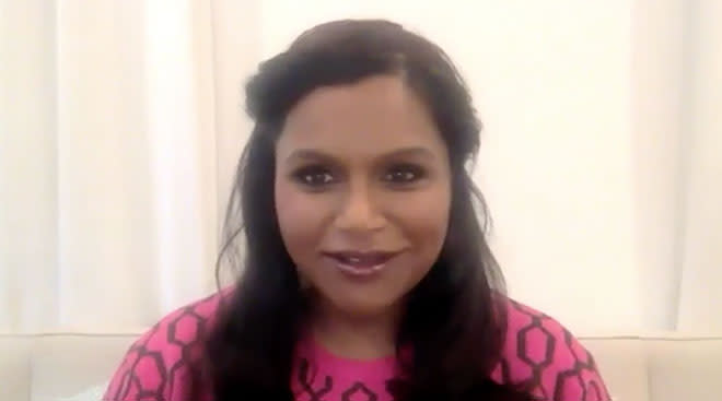 mindy kaling in interview about being a new mom