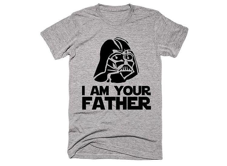 468a064a Shirtoopia I Am your Father Star Wars Darth Vader Head T-Shirt
