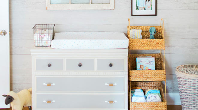 diaper changing table baby nursery room