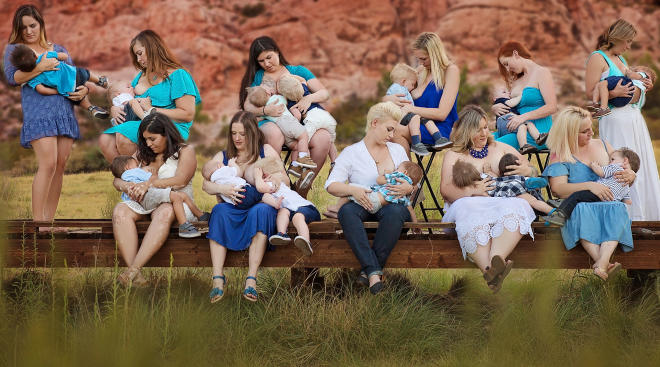 Extended breastfeeding group of moms