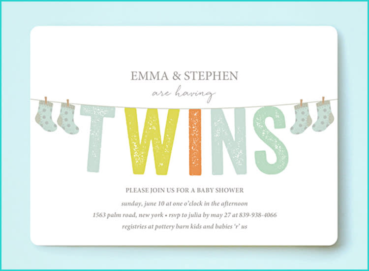 20 unique baby shower invitations minted baby shower invitation twins clothes line filmwisefo