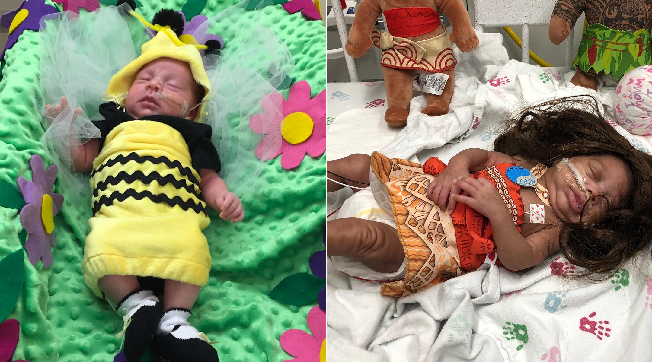preemies dressed up for halloween