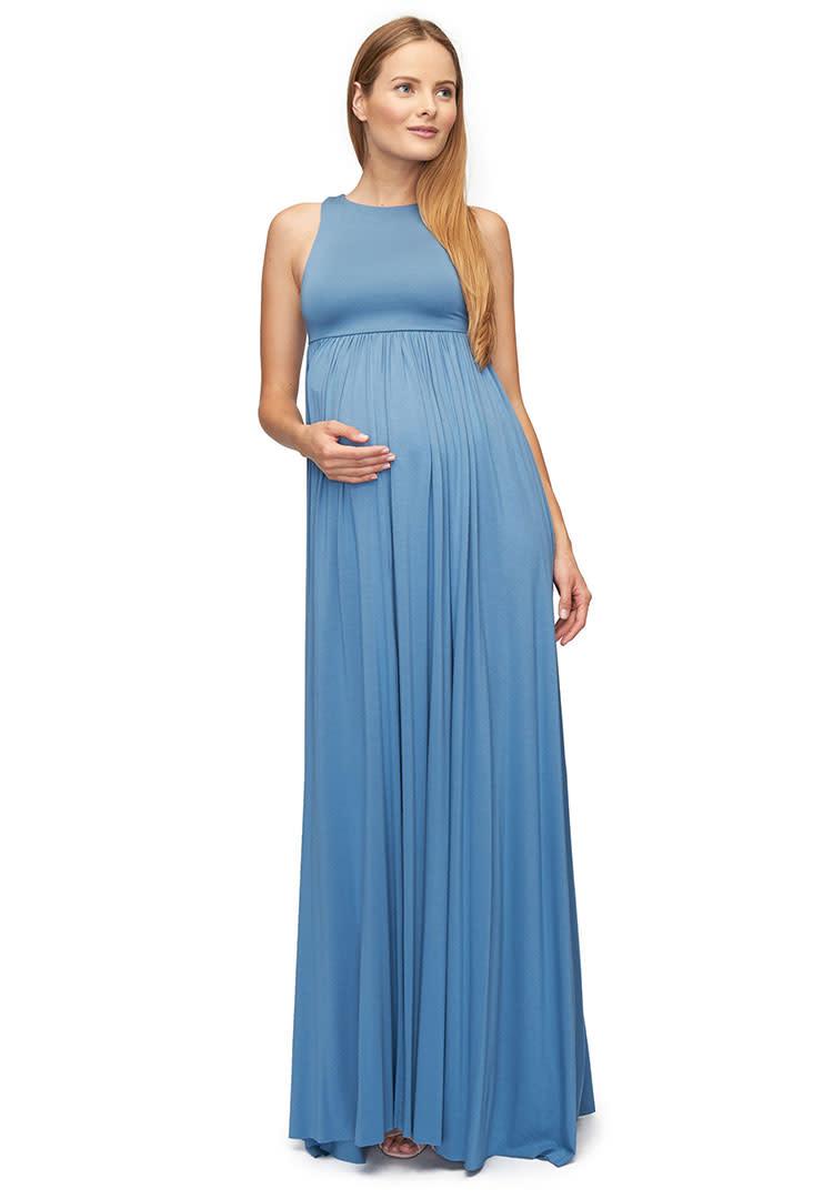 4bbe37b77e952 Rachel Pally long maternity dress for baby shower