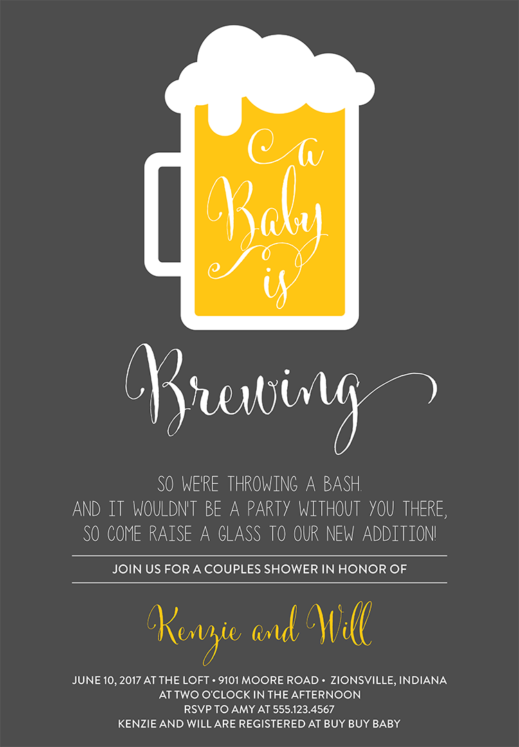 Coed Baby Shower Invitation Wording 1