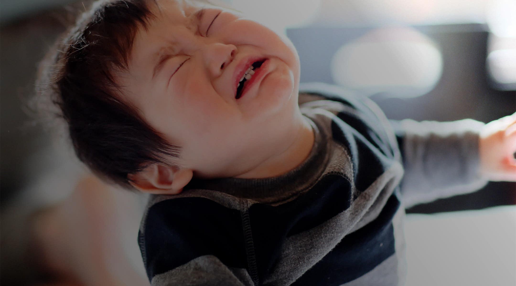 Child throwing a tantrum
