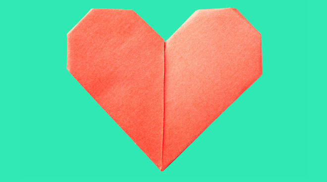 paper heart cut out