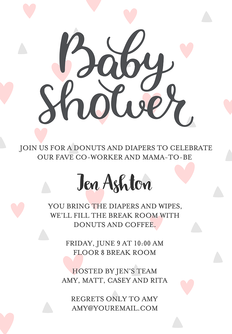 a invitations for how write shower wording baby of sample save to examples party invitation