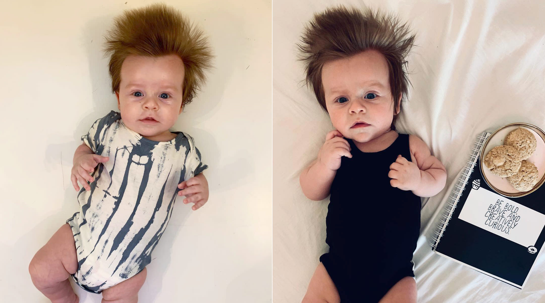 baby from australia becomes internet famous for his adorable hair