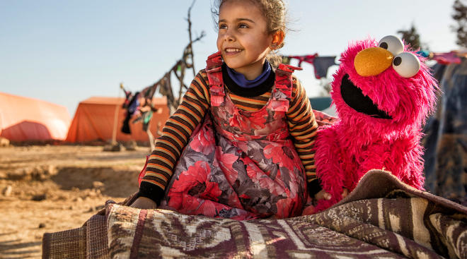 sesame street launches arabic language episodes aimed at refugee children