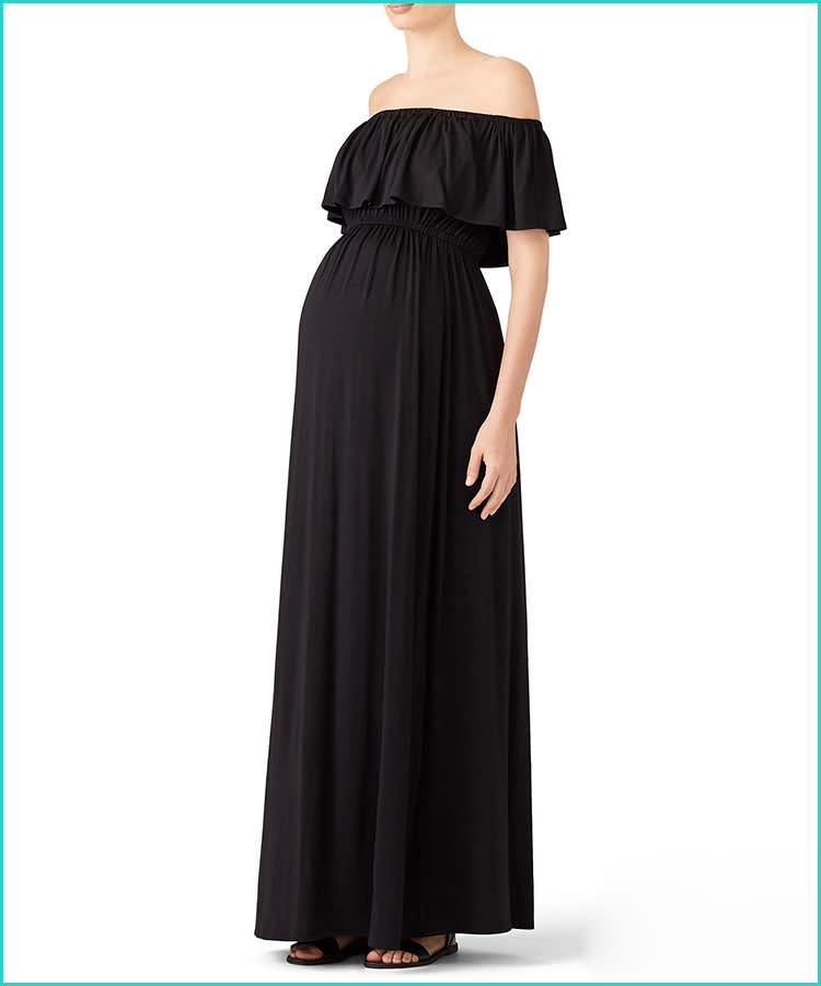 083af0e6ea813 black-off-the-shoulder-ingrid-isabel-maternity-dress