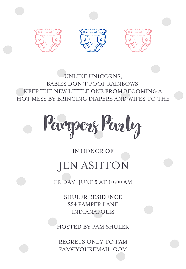 22 baby shower invitation wording ideas diaper shower invitation wording 3 stopboris Gallery
