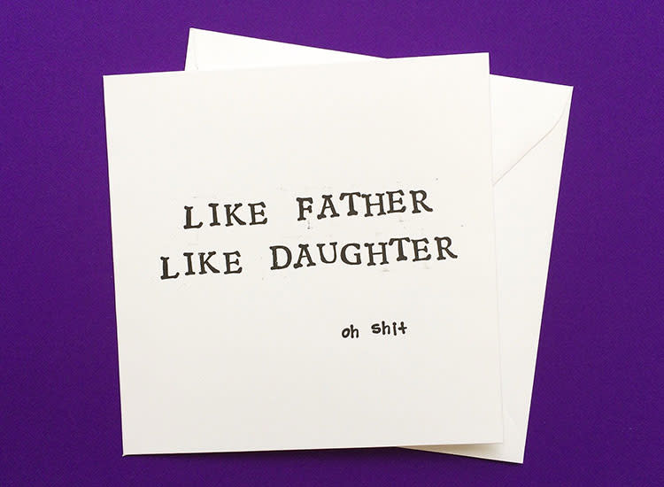 Lukanna Designs Like Father Like Daughter Father's Day Card