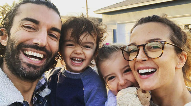 Man Enough author, Justin Baldoni with his wife and two kids.