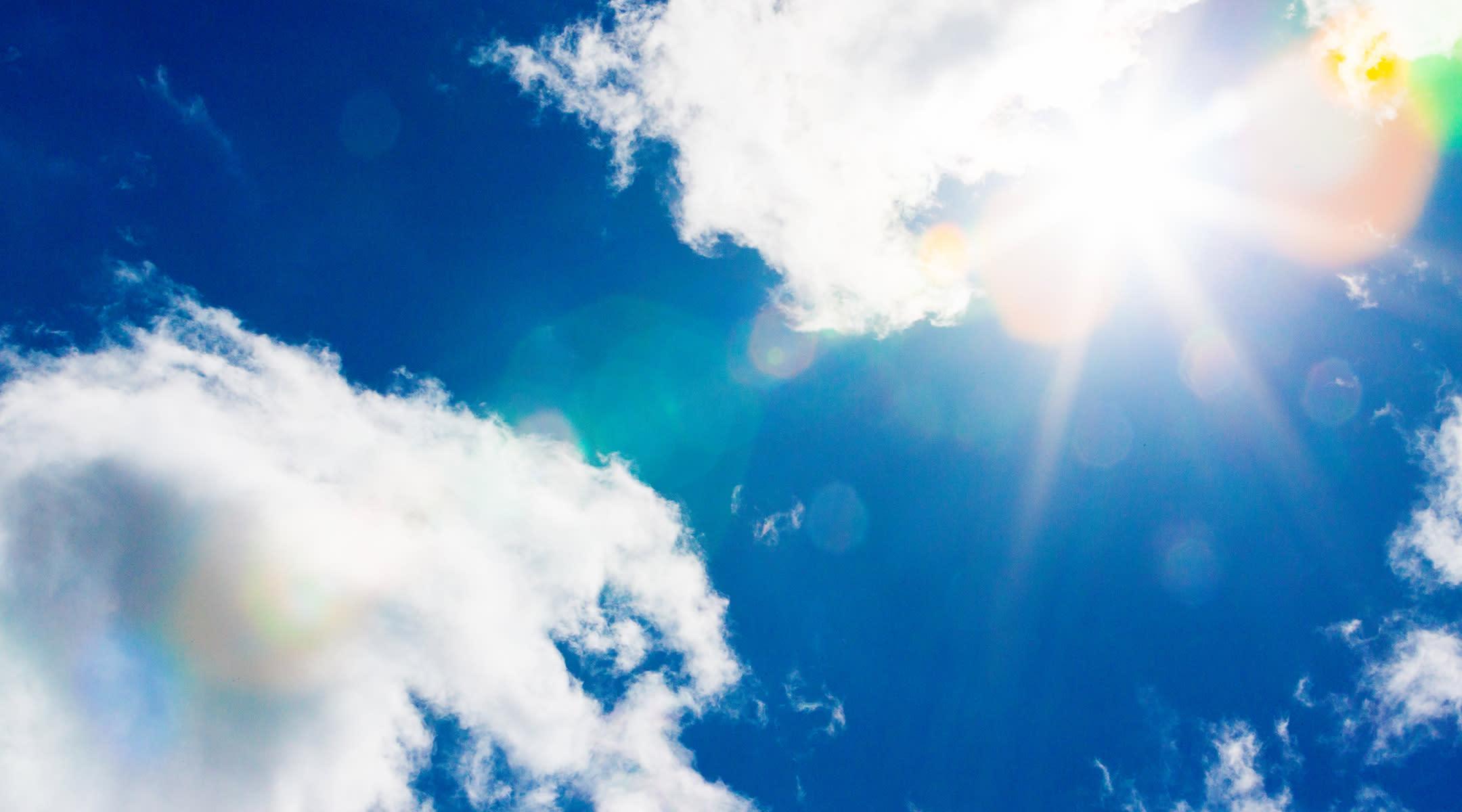 heat blue sky sun clouds
