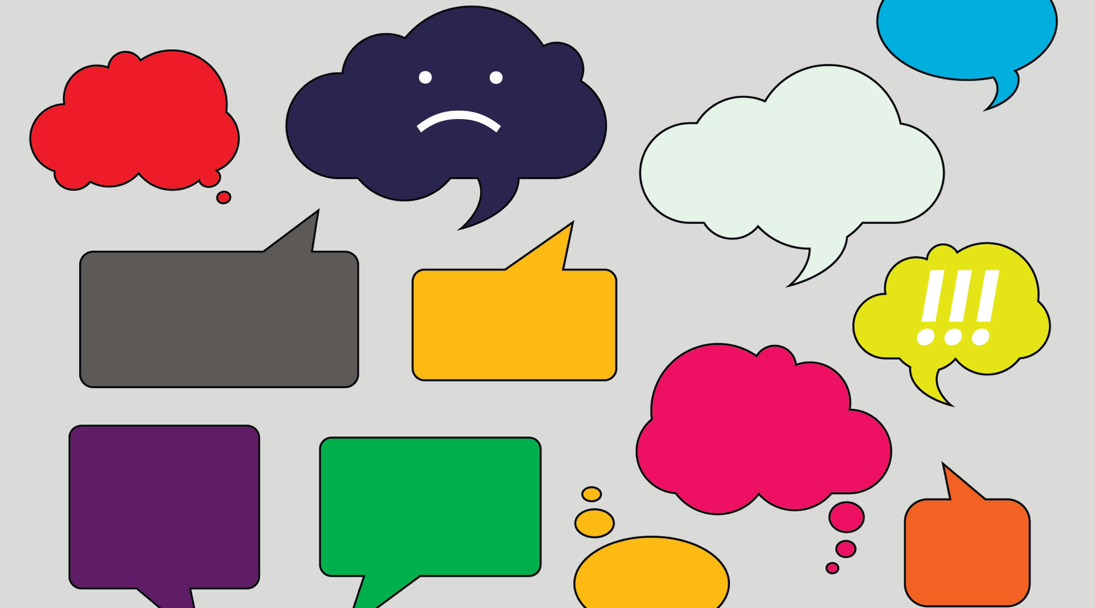 expressive emoji speech bubbles