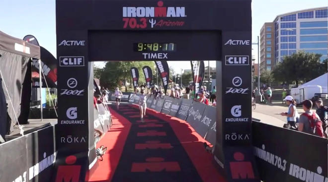 ironman competition finish line in arizona