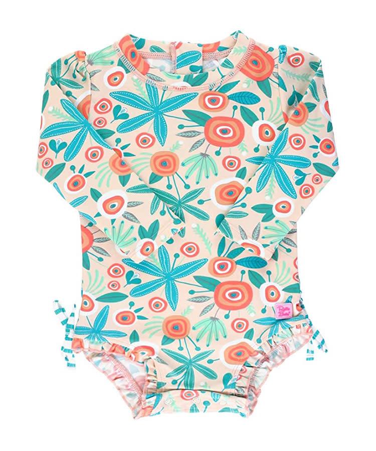 Crazy Baby Girls Summer 3D Animal Print One-Piece Swimwear Bathing Suit