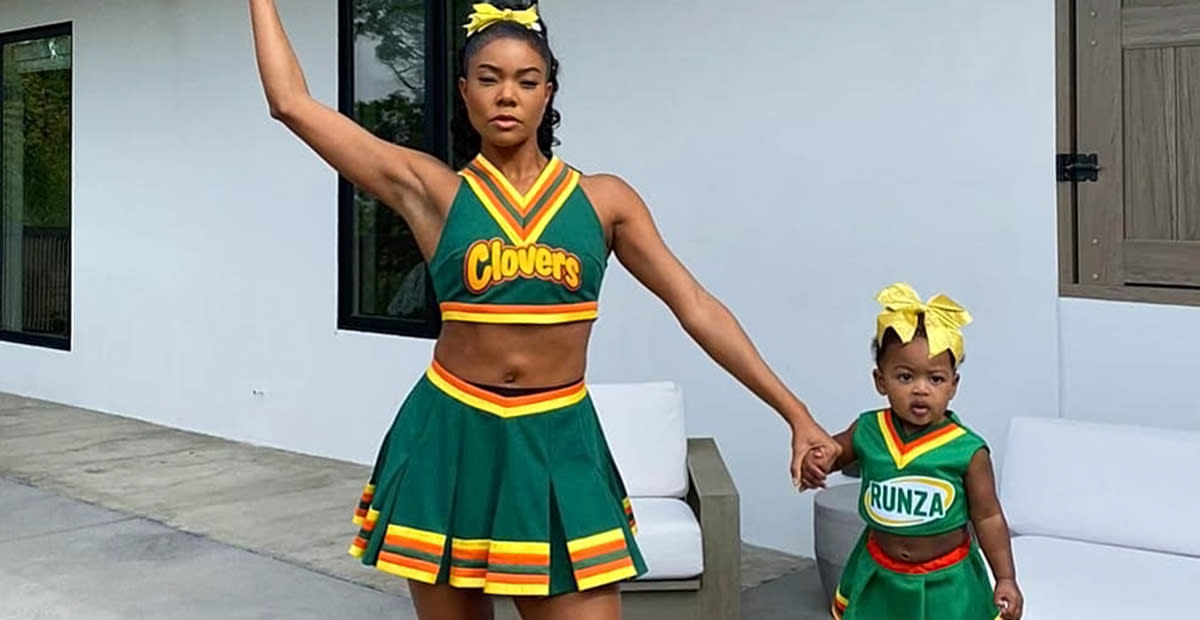 Gabrielle Union and Her Daughter Bring It in Iconic Cheer Costumes