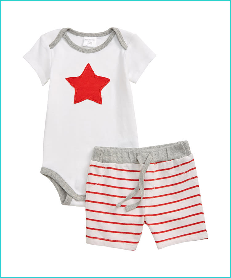 43a343a44 17 Spirited Baby and Toddler Fourth of July Outfits