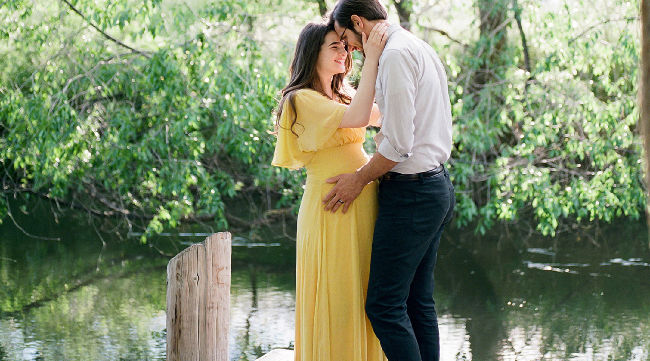 couple outside beautiful maternity photoshop