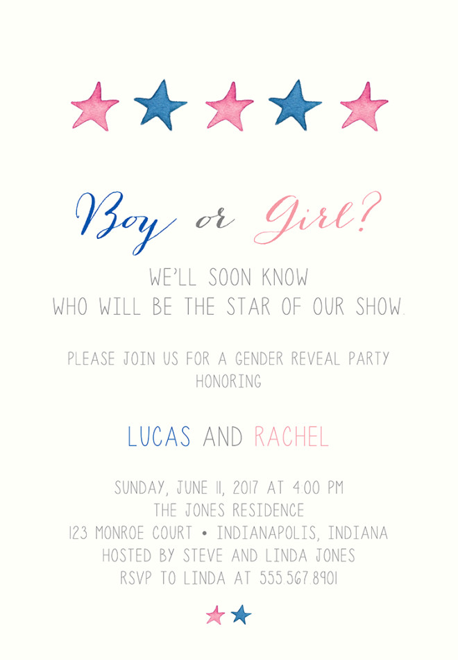 22 Baby Shower Invitation Wording Ideas – Gender Reveal Party Invitation Wording
