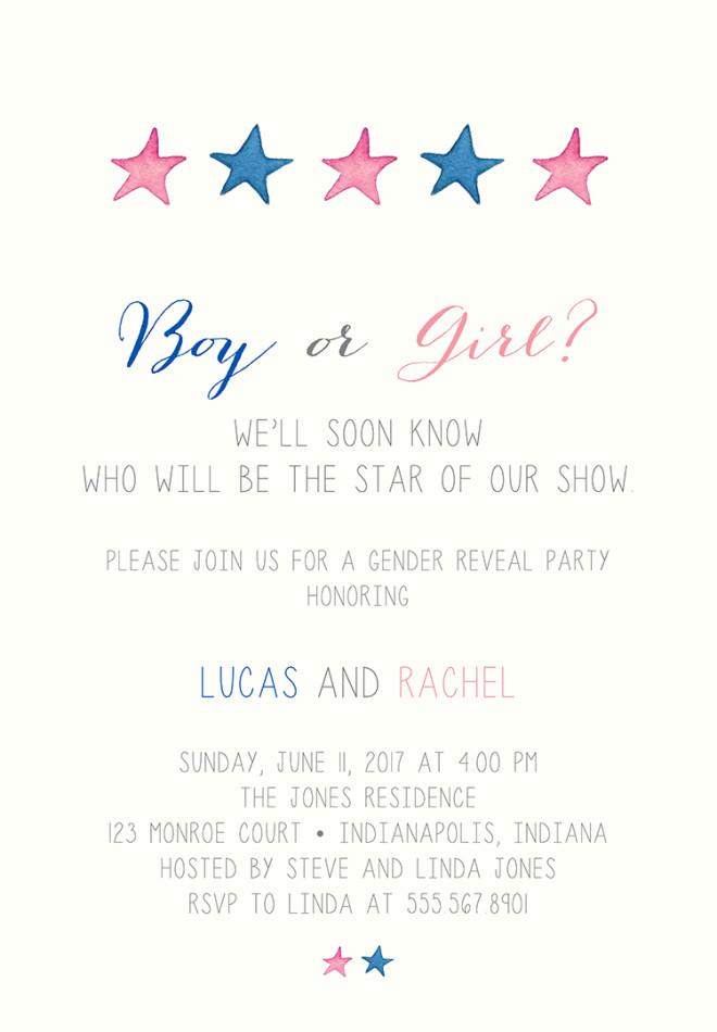 22 baby shower invitation wording ideas gender reveal invitation wording 1 stopboris Choice Image