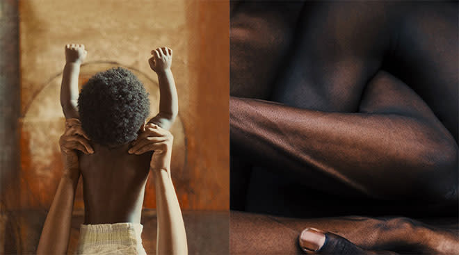 photography showing a Black baby and Black skin
